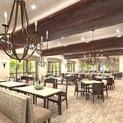The Villas At Stanford Ranch - Dining Room Rendering